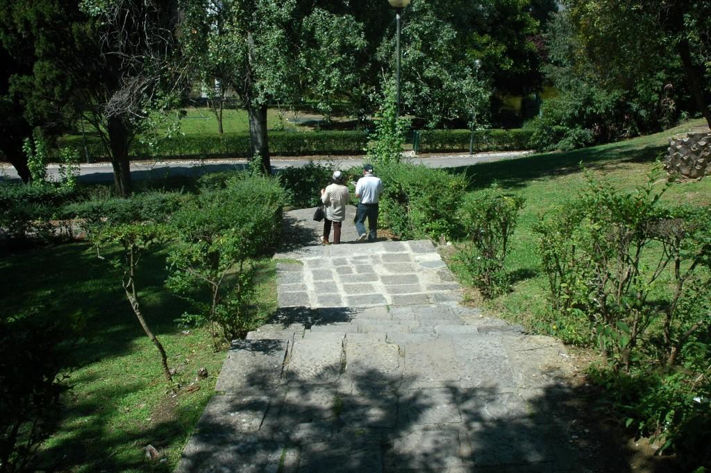 Entrada lateral Jardins Parque Eduardo VII - descida